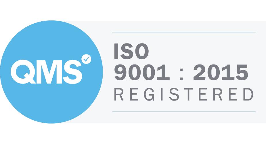 QMS ISO 9001:2015 Registered Logo